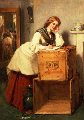 Image result for Very old paintings of women writing a letter.